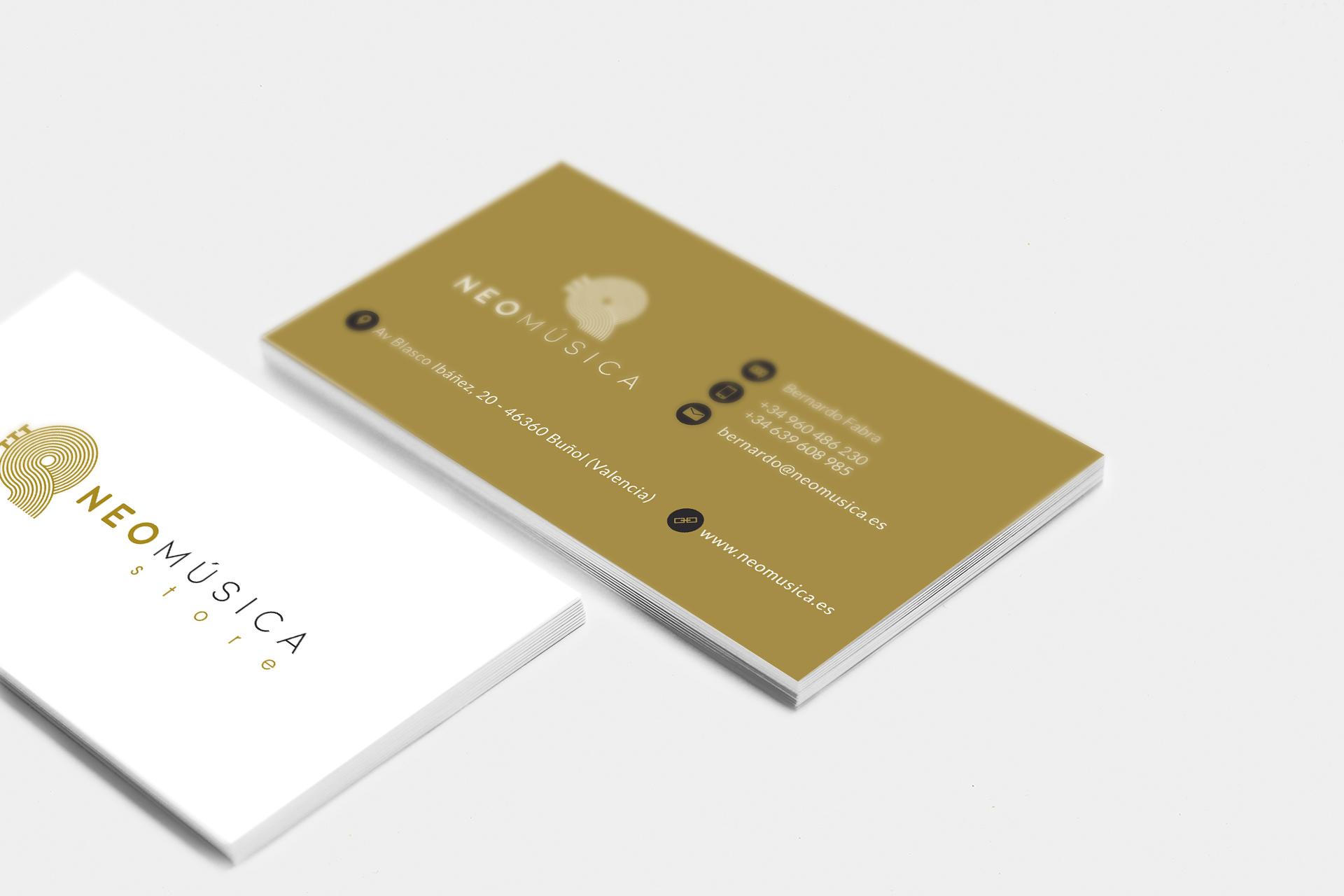 neomúsica - Diseño de tarjetas de visita