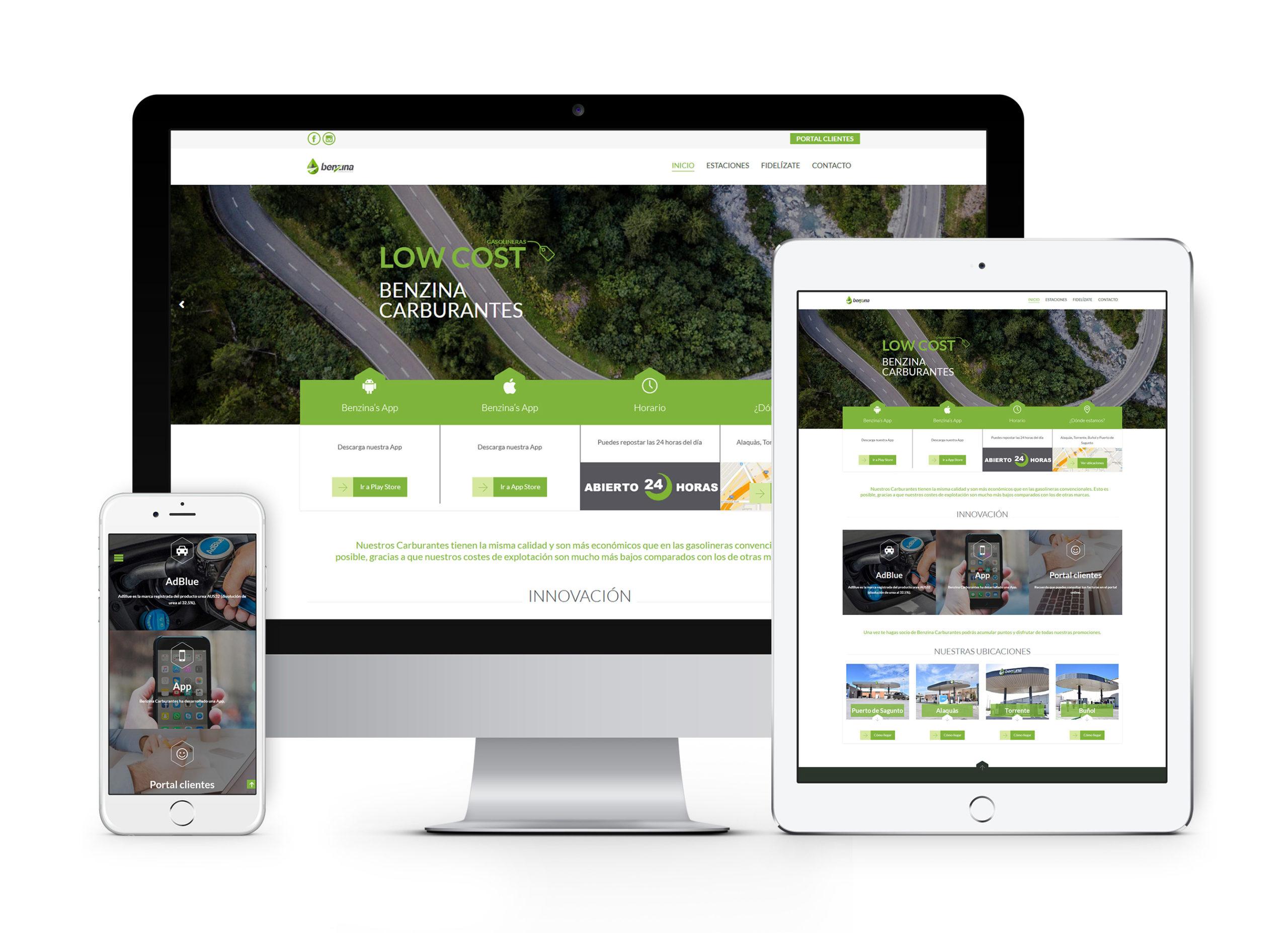 Benzina Carburantes - Diseño web
