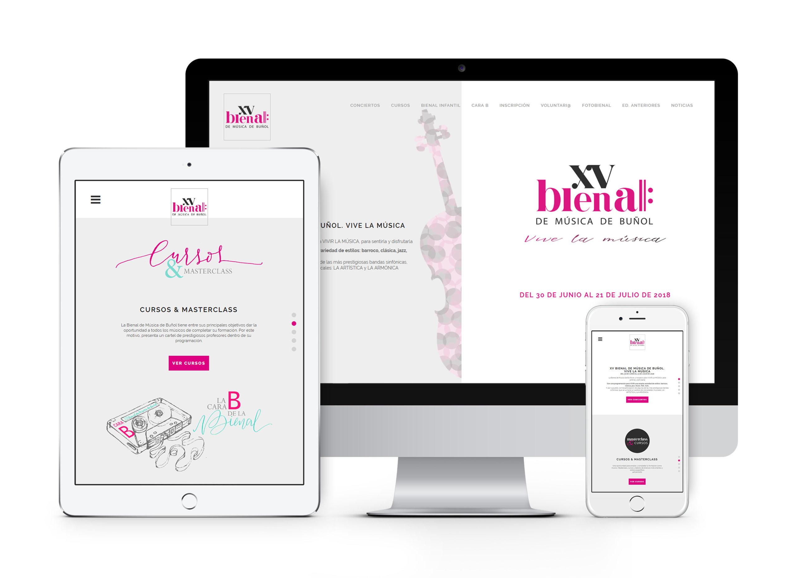 XV Bienal de Música de Buñol - Diseño y desarrollo web