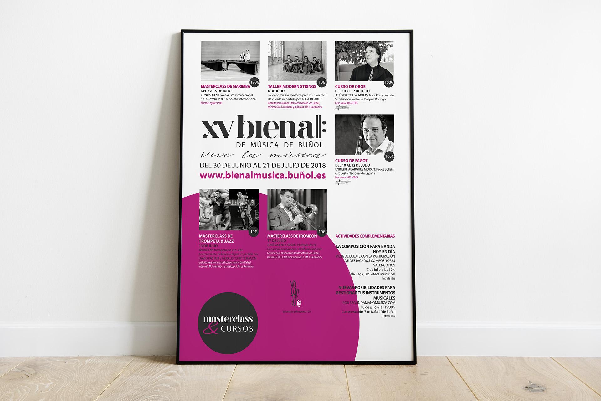 XV Bienal de Música de Buñol - Diseño gráfico