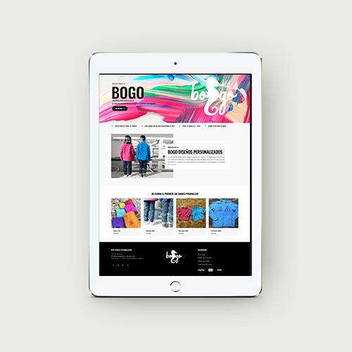 Bogo Regalos personalizados - Diseño de tienda online con personalizador de productos