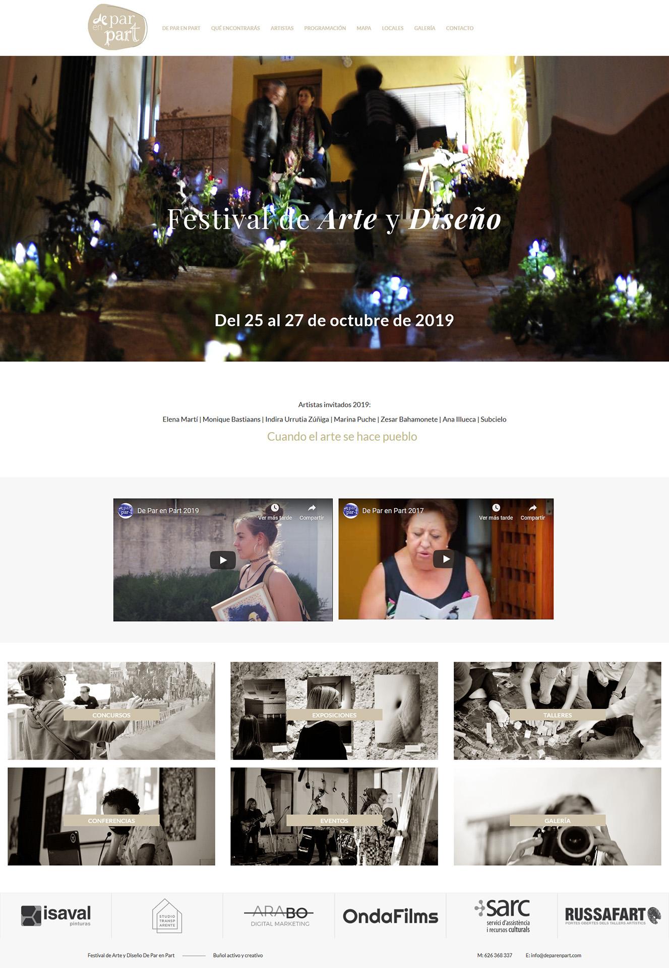 Festival De Par en Part - Diseño web