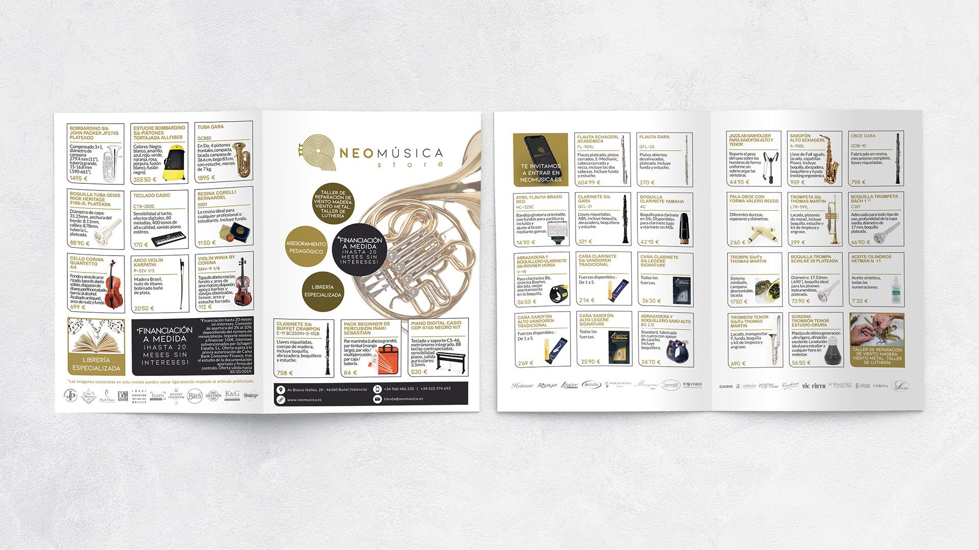 neomúsica - Diseño catálogo de productos