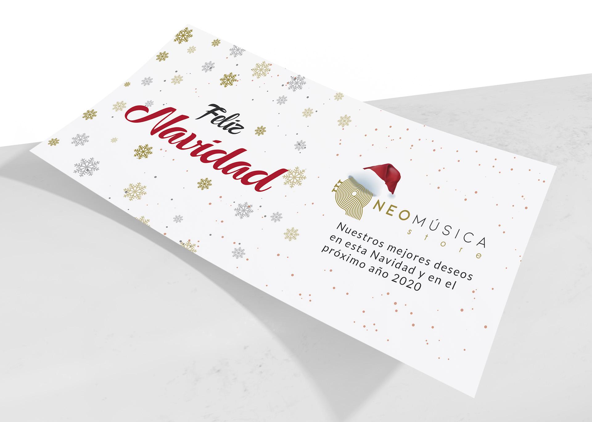 neomúsica - Diseño felicitación de Navidad