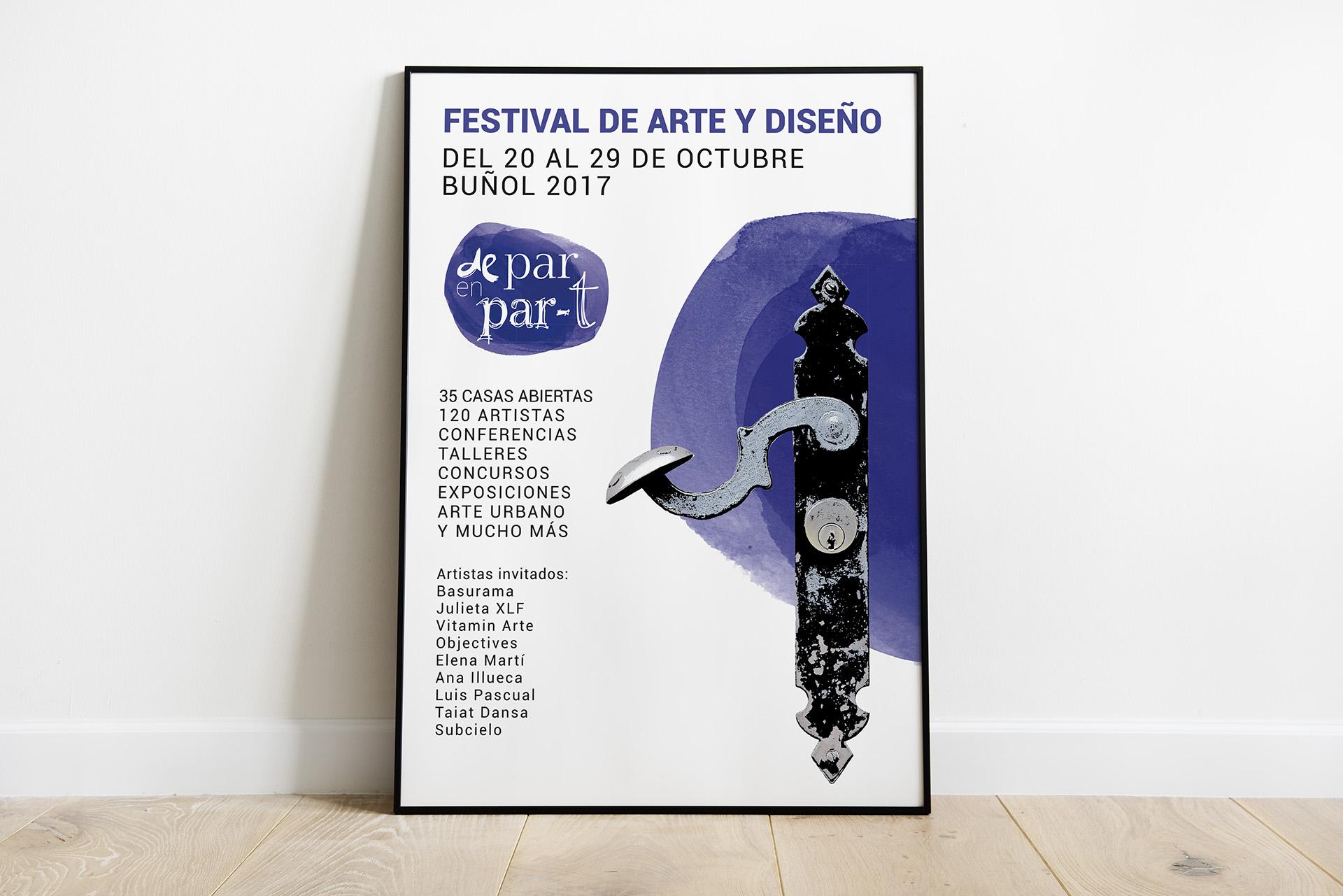 Festival De Par en Part Ed. 2017 - Diseño gráfico y web