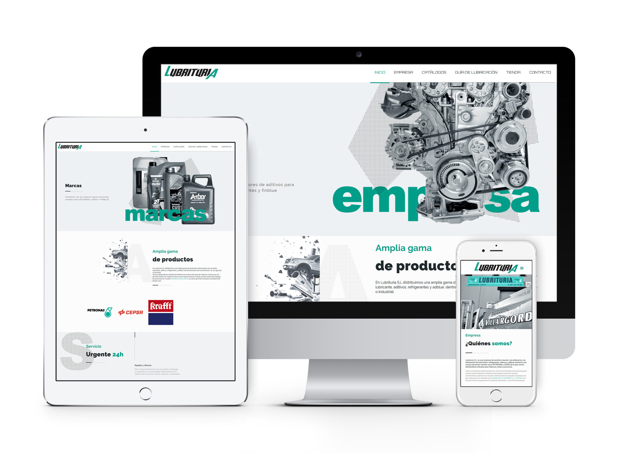Lubrituria - Diseño de página web corporativa y de tienda online