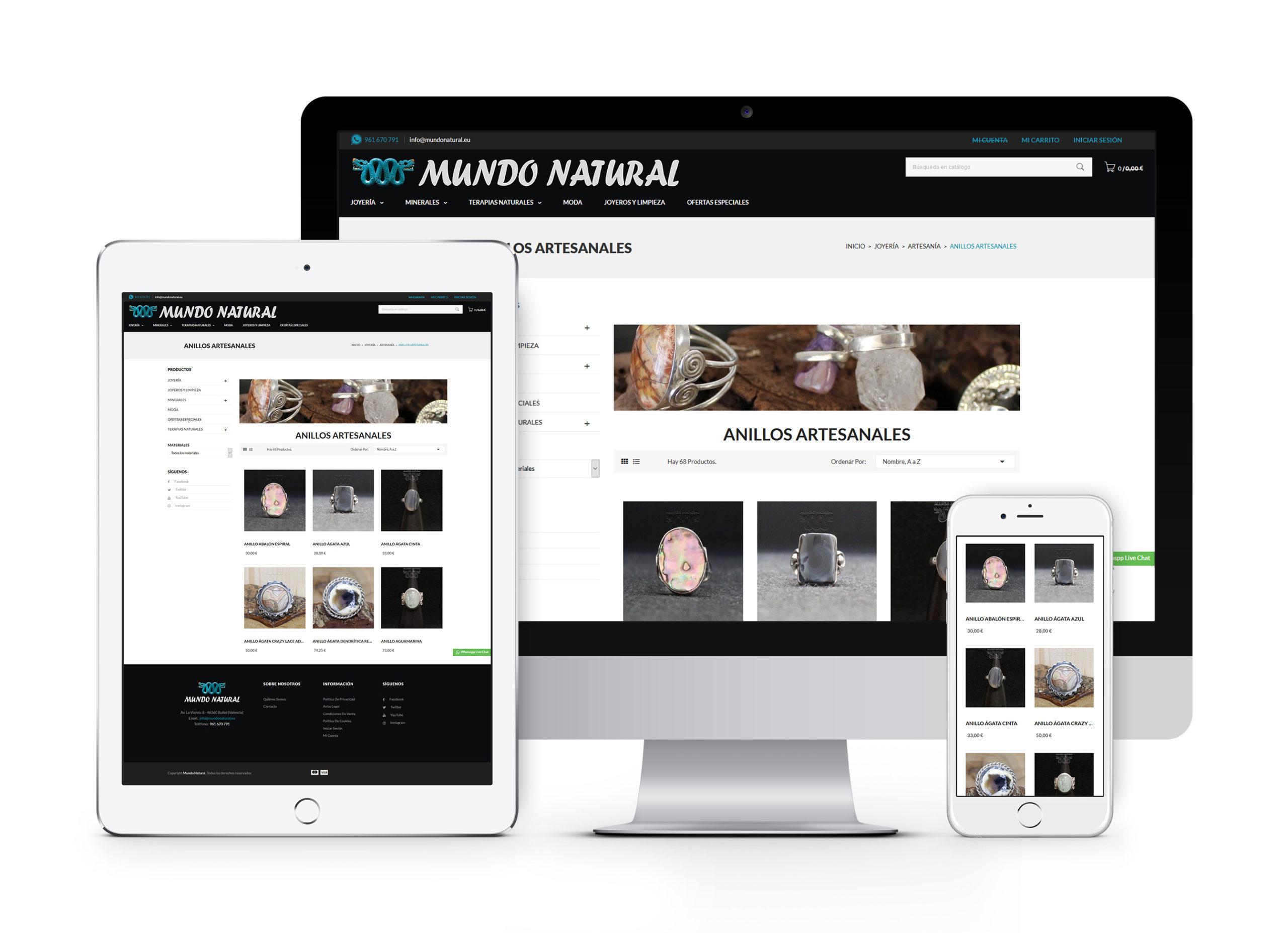 Mundo Natural - Diseño y desarrollo de tienda online