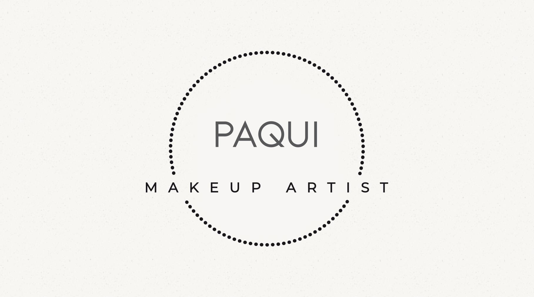 Paqui Makeup Artist - Diseño imagen corporativa