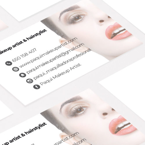 Paqui Makeup Artist - Diseño tarjetas de visita