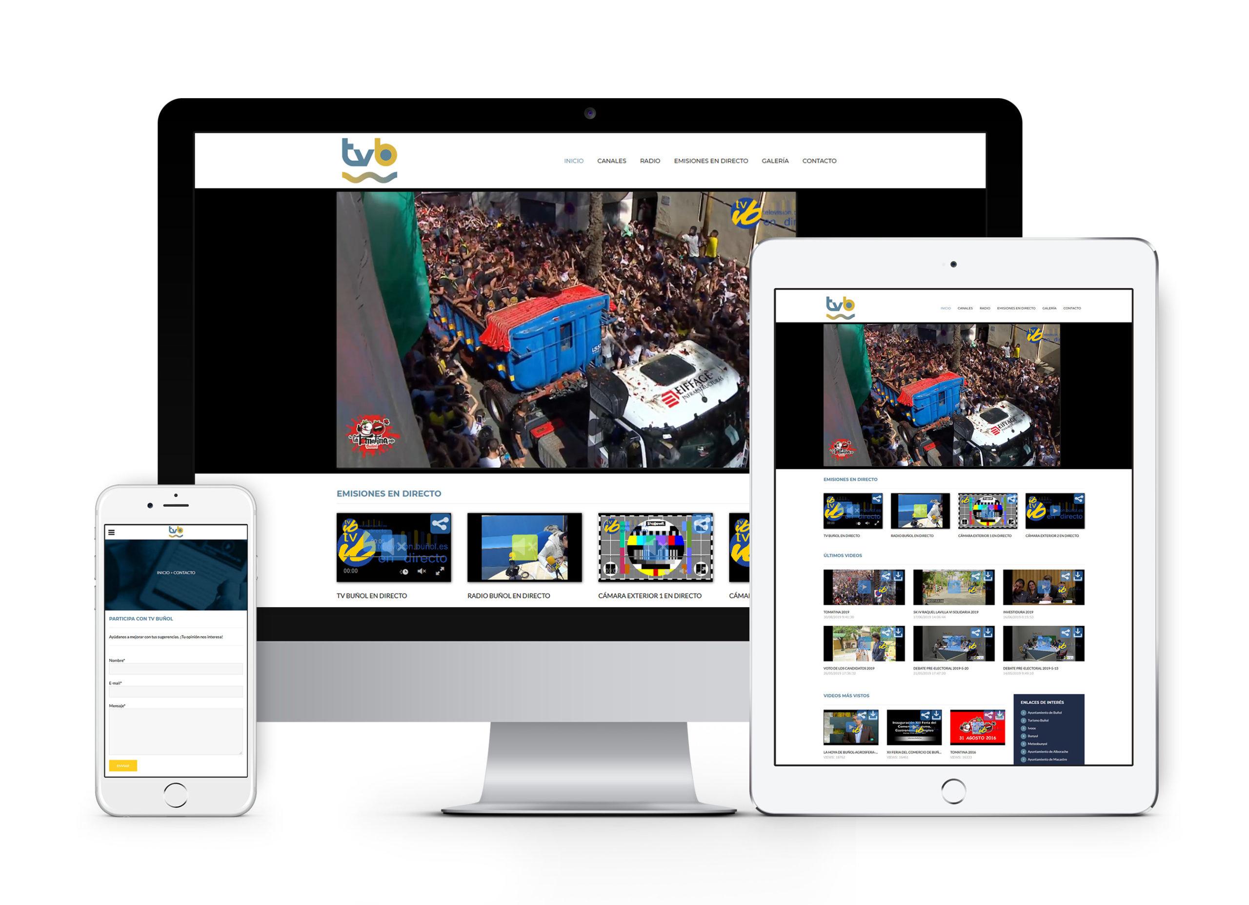 Radio Televisión Buñol - Diseño web