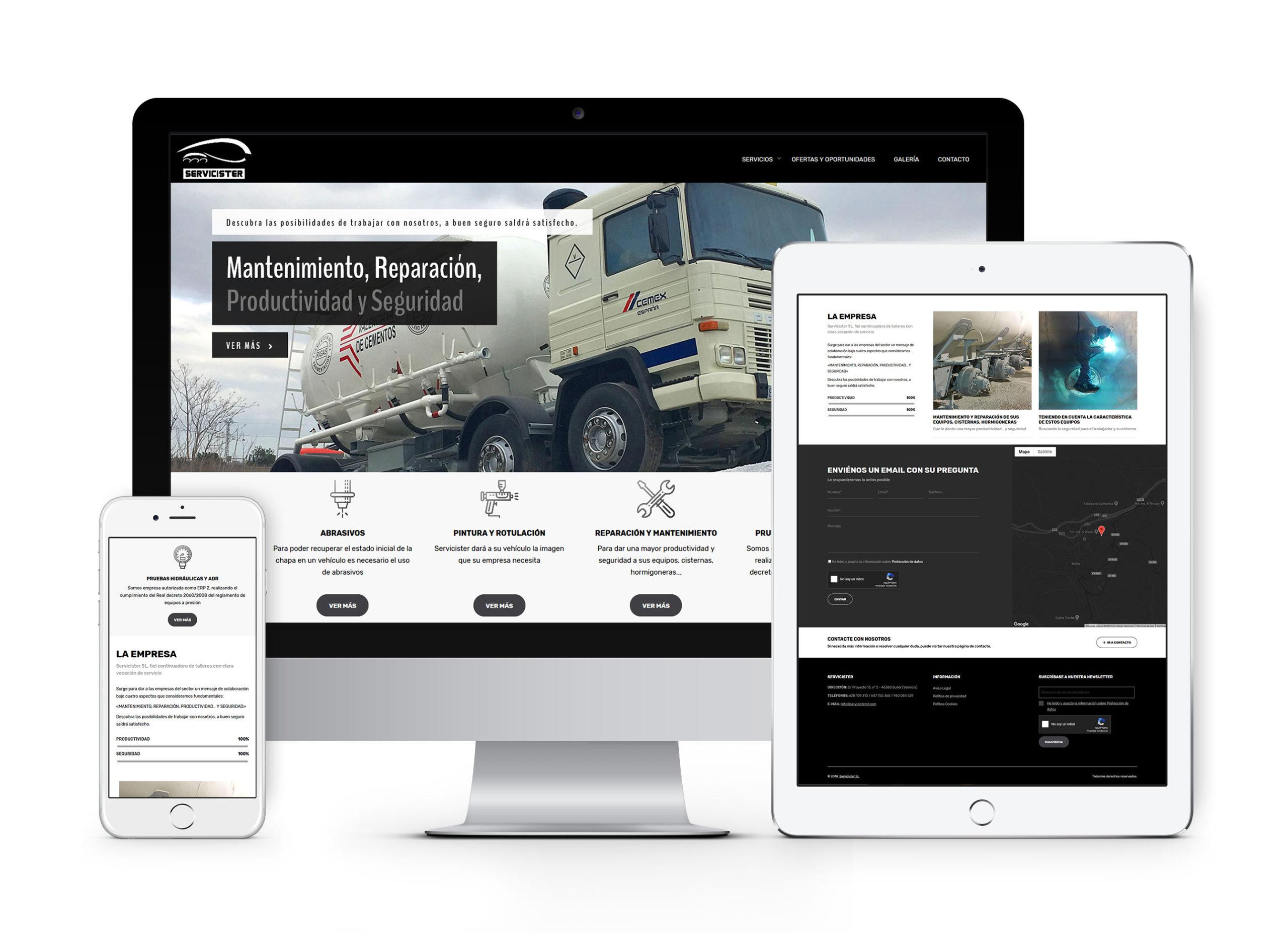 Servicister SL - Diseño web, diseño gráfico y campañas Mailchimp
