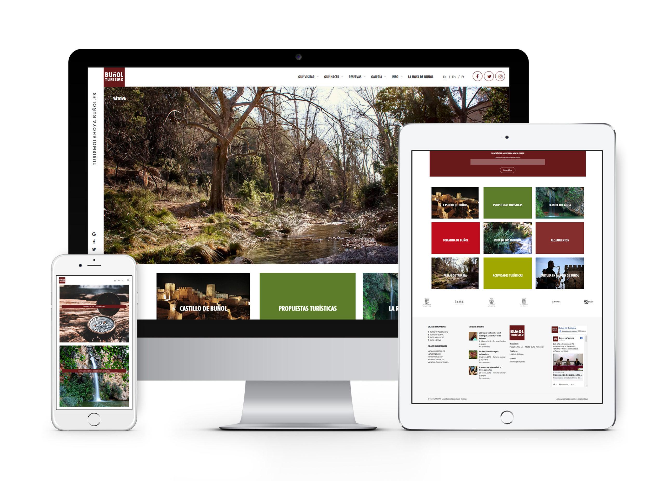 Buñol Turismo - Diseño web